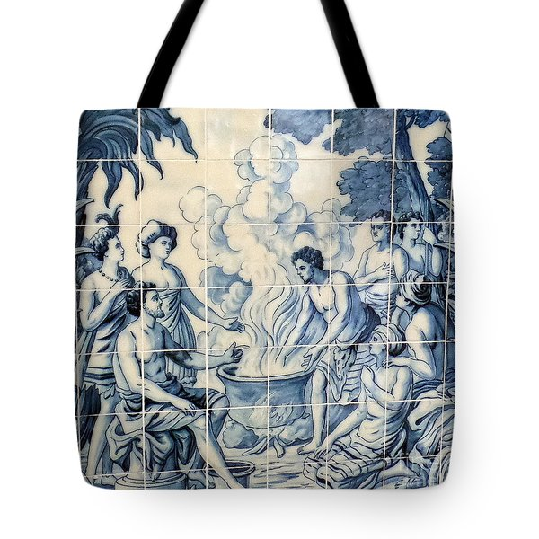 Tile Art Tote Bag