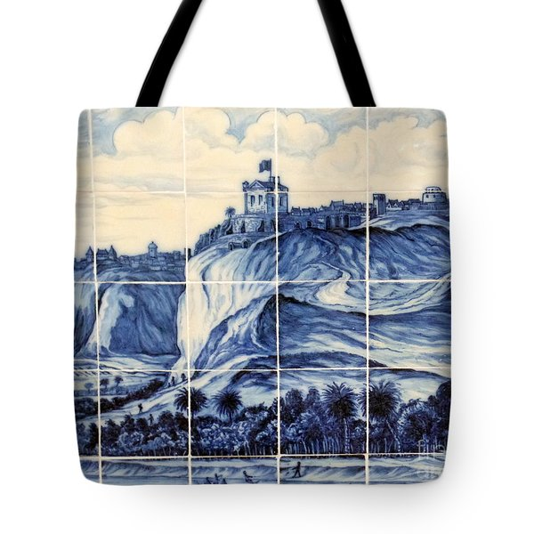 Tile Art Of African History Tote Bag