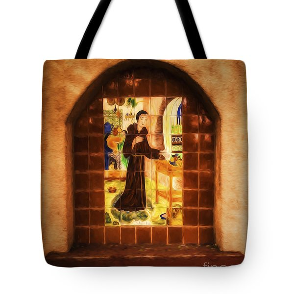 Tote Bag featuring the photograph Tile Work In Santa Fe  ... by Chuck Caramella