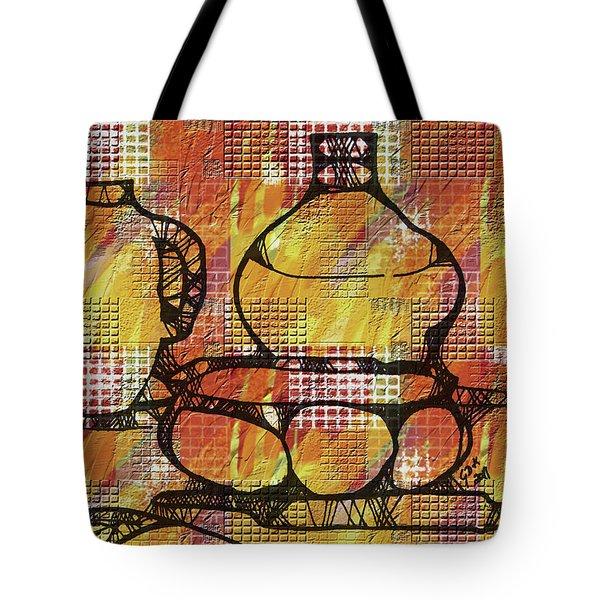 Tiled Pots Tote Bag