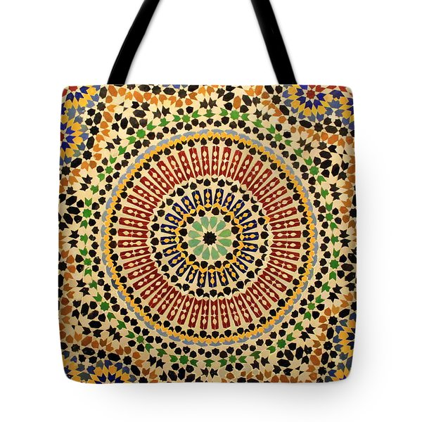 Tote Bag featuring the photograph Tiles Of Fez by Ramona Johnston
