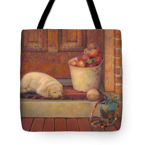 Tote Bag featuring the painting Till The Kids Come Home by Nancy Lee Moran