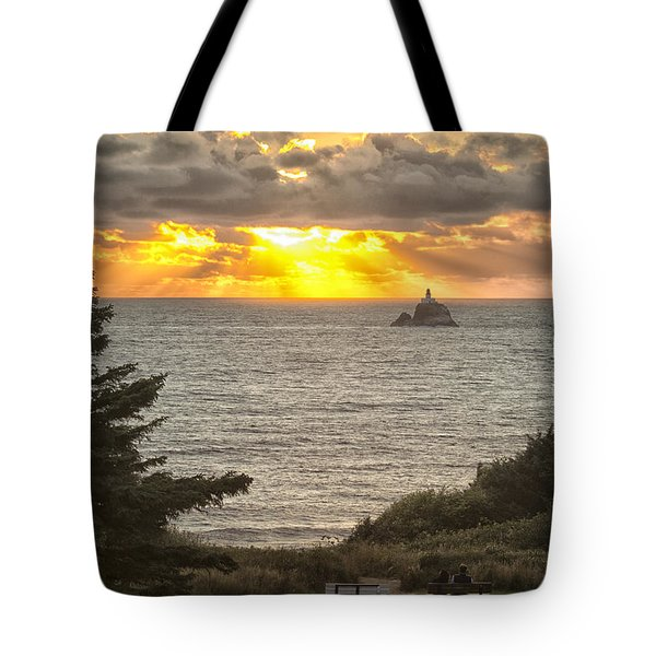 Tillamook Rock Lighthouse 0402 Tote Bag by Tom Kelly