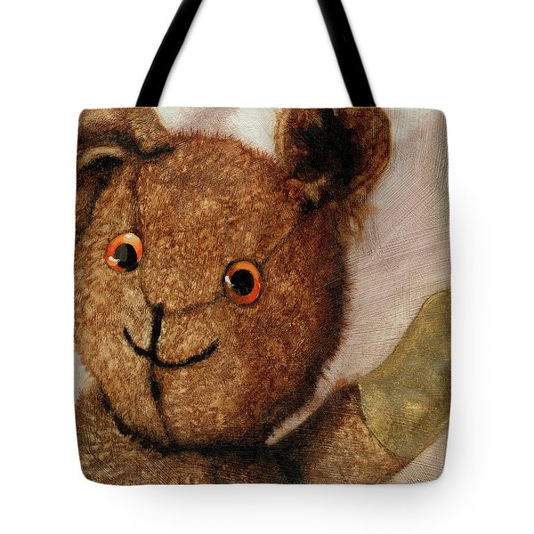 Tillie - Vintage Bear Painting Tote Bag