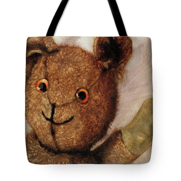 Tillie - Vintage Bear Painting Tote Bag by Linda Apple