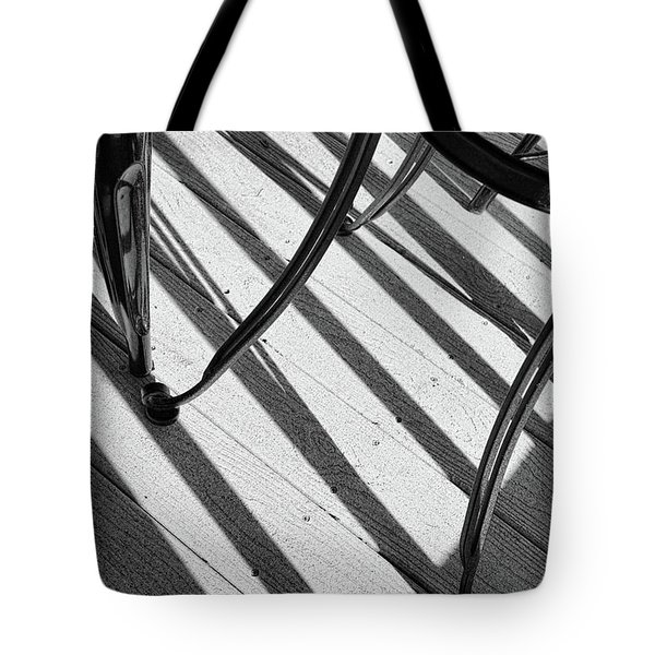 Tote Bag featuring the photograph Tilt Black And White Photography by Ann Powell