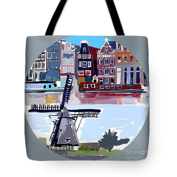Tilting Windmills Tote Bag