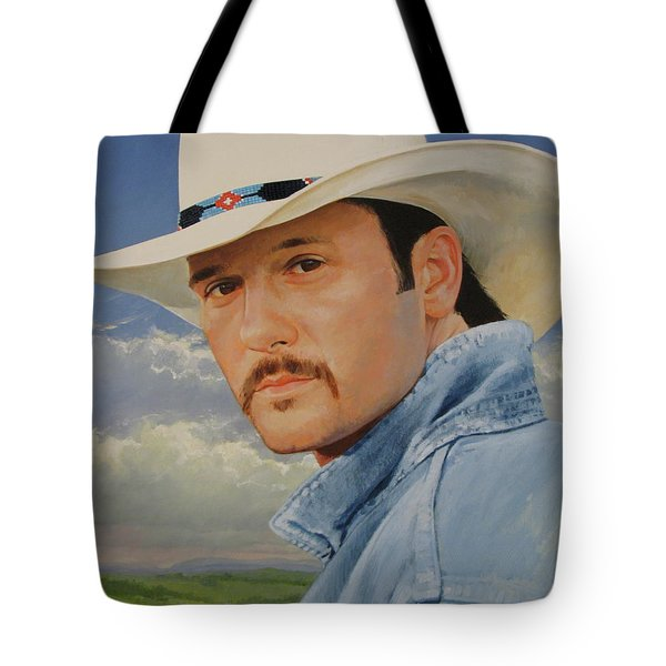 Tim Mcgraw Tote Bag by Cliff Spohn