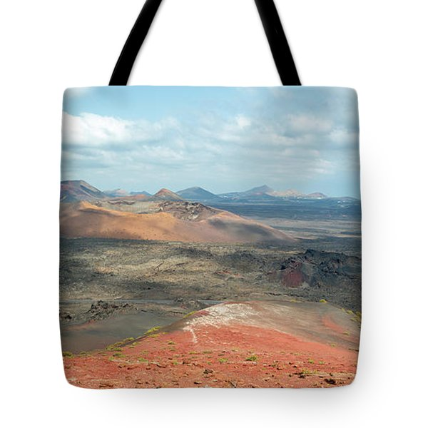 Timanfaya Panorama Tote Bag by Delphimages Photo Creations