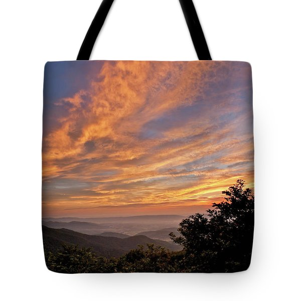 Timber Hollow Overlook Sunset 1 Tote Bag