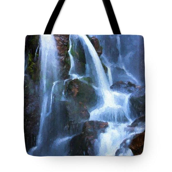Timberline Falls Tote Bag