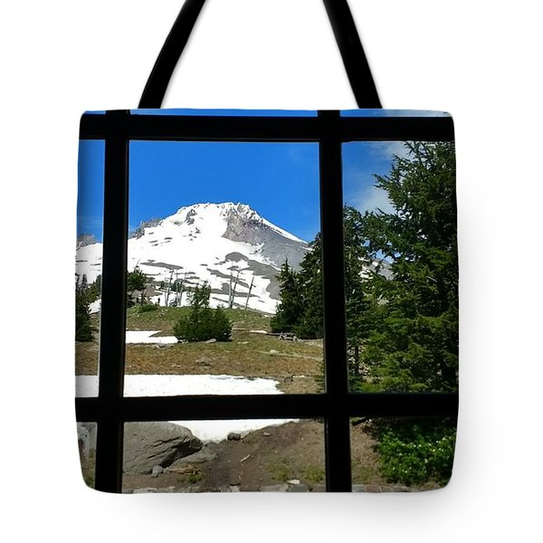 Timberline Lodge View Tote Bag