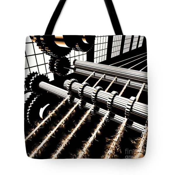 Tote Bag featuring the digital art Time Aerials Industrial Revolutions by Russell Kightley