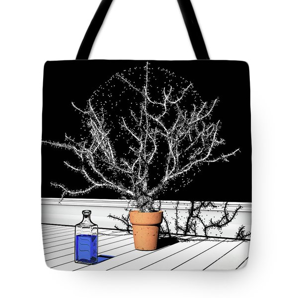 Tote Bag featuring the digital art Time Aerials Time Aerials In A Pot by Russell Kightley