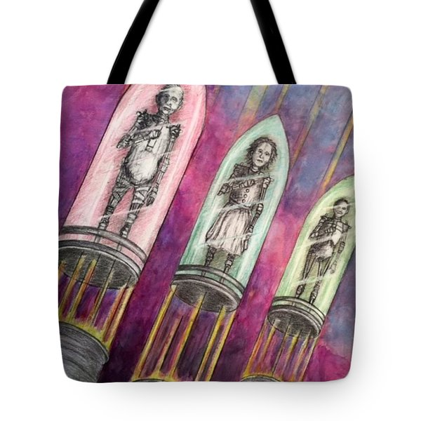 Time  Column Tote Bag