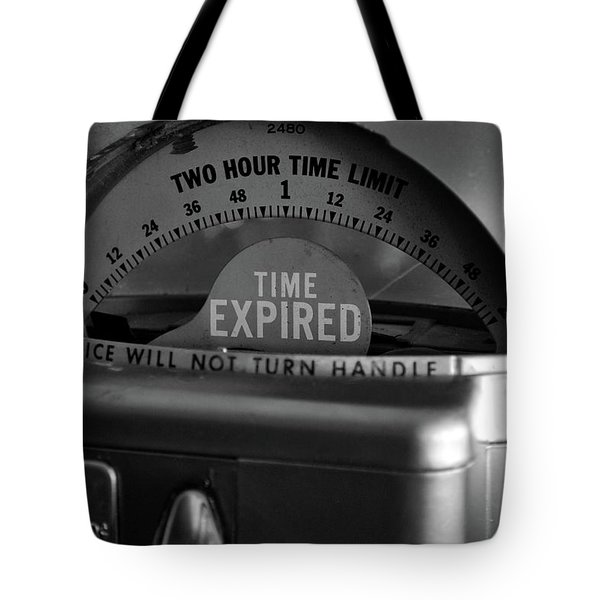 Time Expired Tote Bag