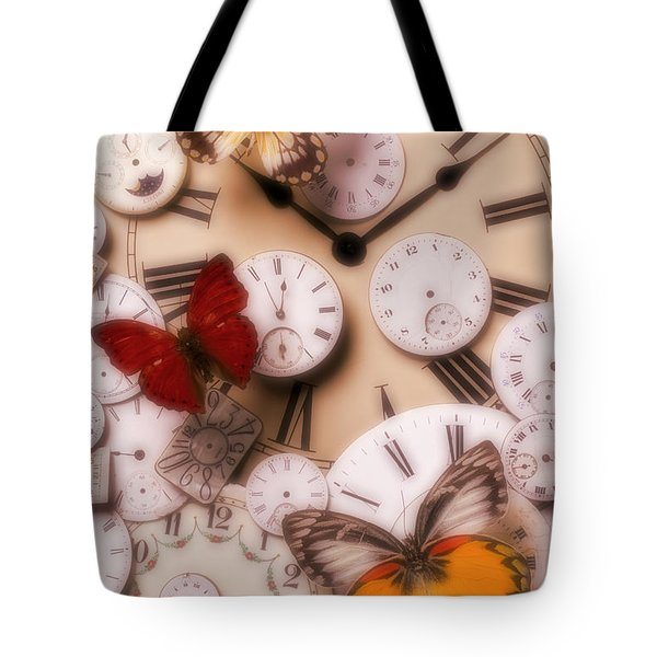 Time Flies Tote Bag by Garry Gay