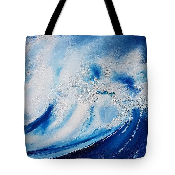 Tote Bag featuring the painting Time Flies by Mira Cooke