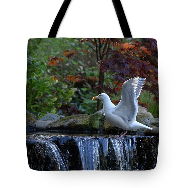 Time For A Bird Bath Tote Bag