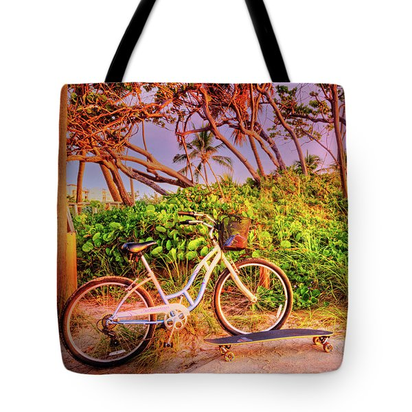 Tote Bag featuring the photograph Time For Beach Fun by Debra and Dave Vanderlaan