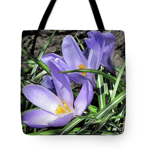 Time For Crocuses Tote Bag