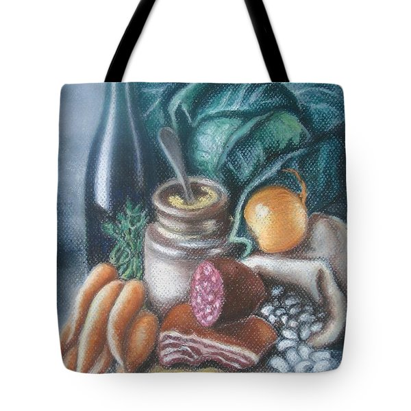 Tote Bag featuring the painting Time For Soup by Inese Poga