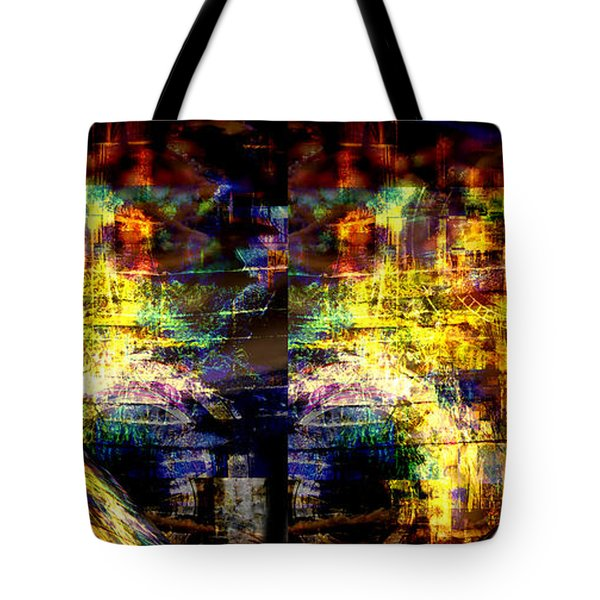 Tote Bag featuring the digital art Time Frame by Art Di