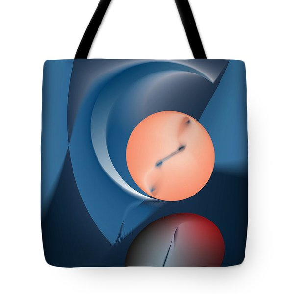 Time Is A Peculiar Game Tote Bag by Leo Symon