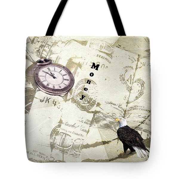 Tote Bag featuring the photograph Time Is Money by Diane Schuster