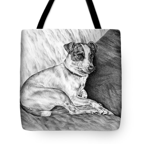 Time Out - Jack Russell Dog Print Tote Bag