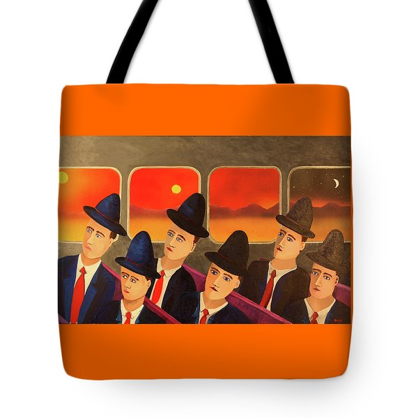 Tote Bag featuring the painting Time Passes By by Thomas Blood
