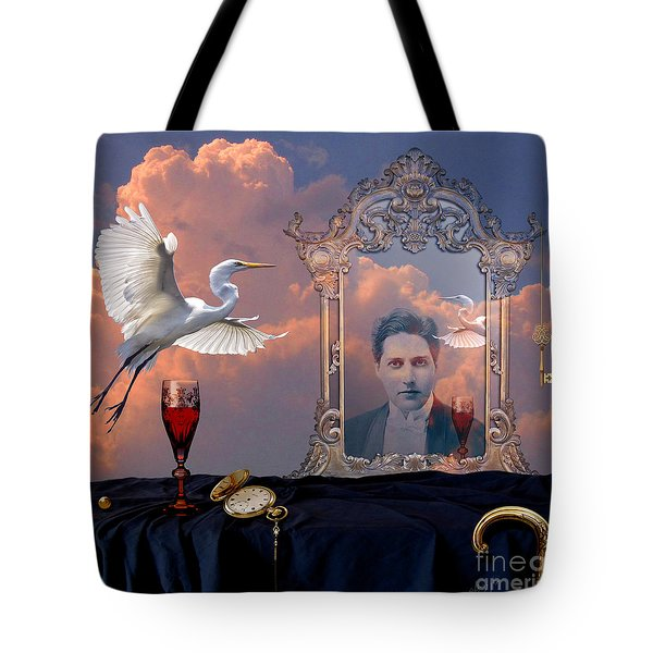 Tote Bag featuring the digital art Time Reflection by Alexa Szlavics
