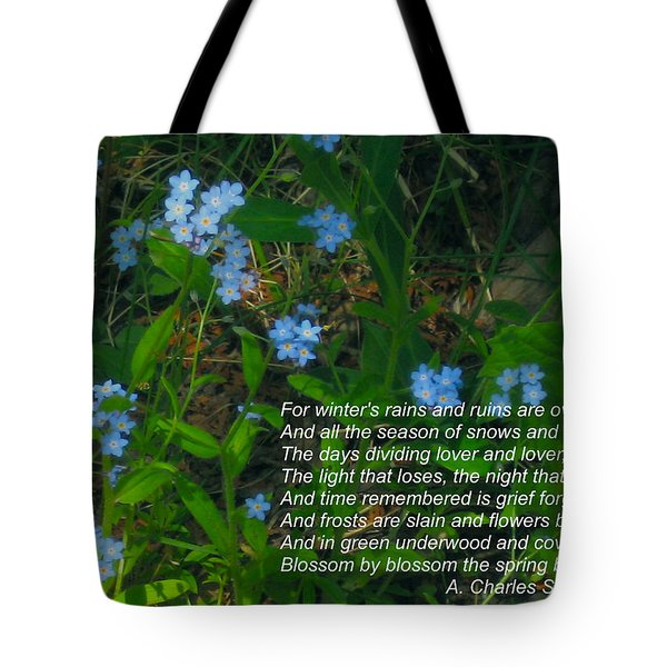 Time Remembered Is Grief Forgotten Tote Bag