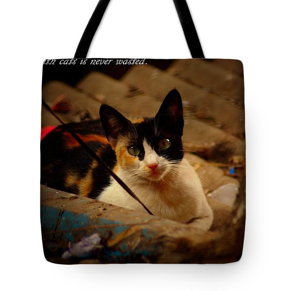 Time Spent With Cats. Tote Bag