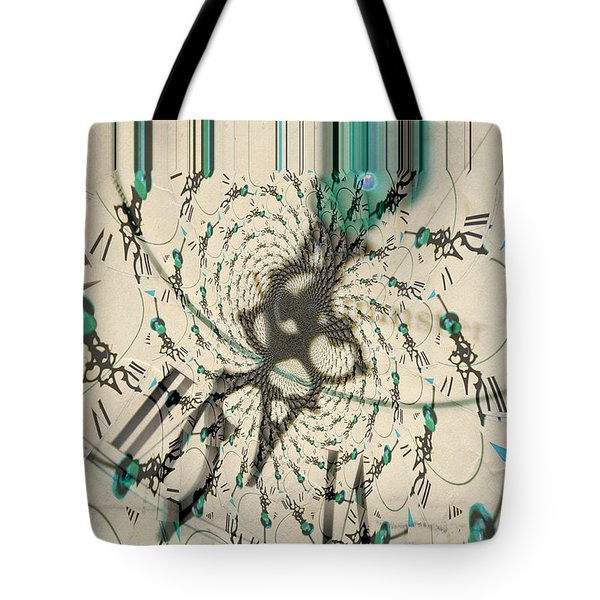 Time Ticking To The New Year Tote Bag by Donna Bentley