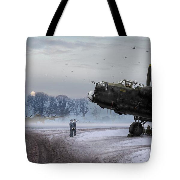 Tote Bag featuring the photograph Time To Go - Lancasters On Dispersal by Gary Eason