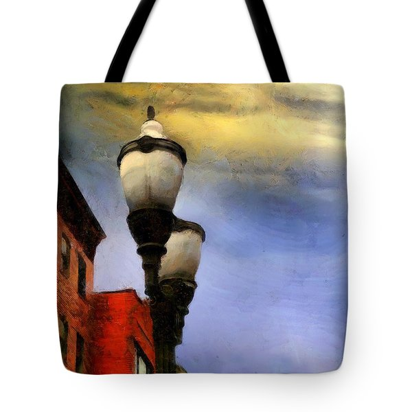 Time To Light The Lamps Tote Bag by RC deWinter