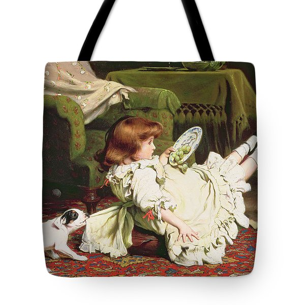 Time To Play Tote Bag by Charles Burton Barber