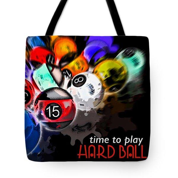 Time To Play Hard Ball Black Tote Bag