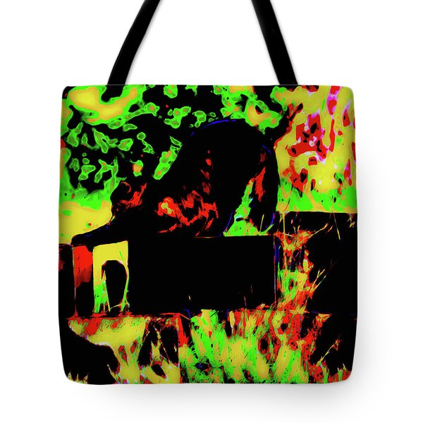 Time To Stretch Tote Bag by Gina O'Brien