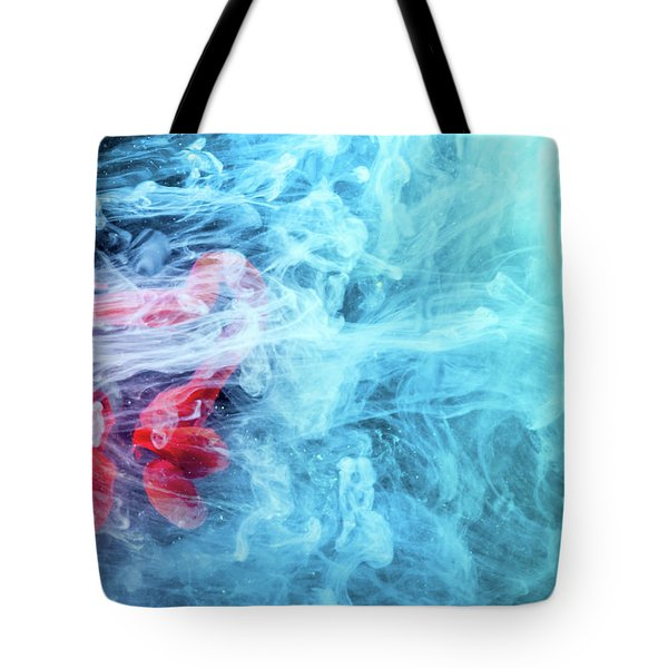 Time Travel - Blue Abstract Photography Tote Bag by Modern Art Prints
