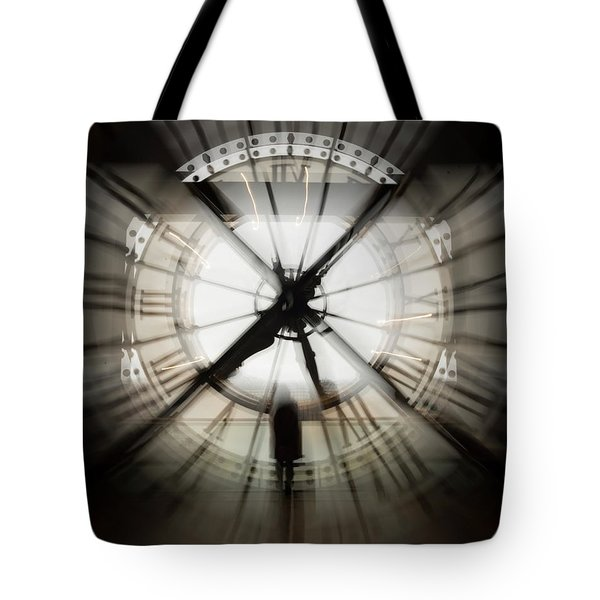Time Waits For None Tote Bag