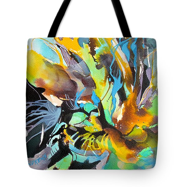 Tote Bag featuring the painting Time Warp by Rae Andrews