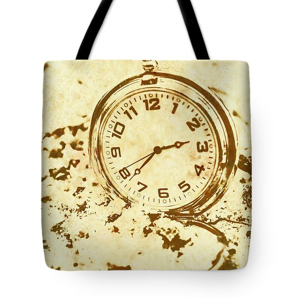 Time Worn Vintage Pocket Watch Tote Bag