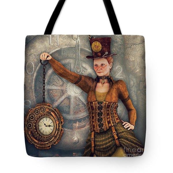 Tote Bag featuring the digital art Timekeeper by Jutta Maria Pusl