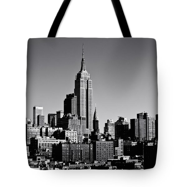 Timeless - The Empire State Building And The New York City Skyline Tote Bag by Vivienne Gucwa