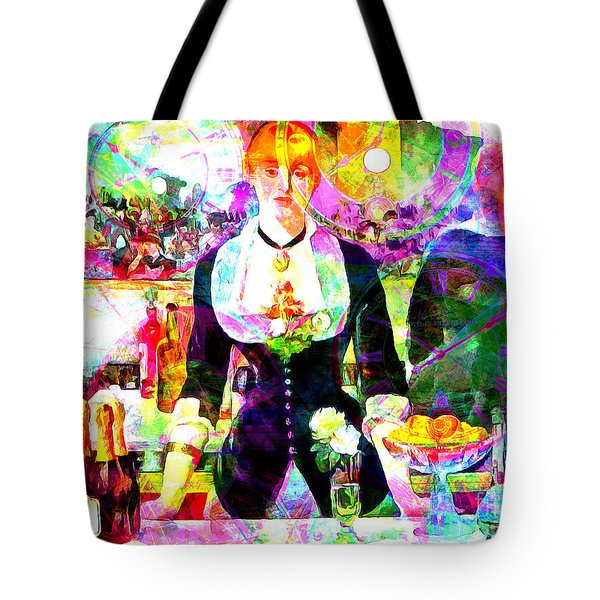 Timeless Art A Bar At The Den Folies Bergere 20160228 Tote Bag