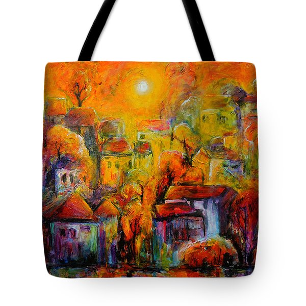 Tote Bag featuring the painting Timeless Paradise by Jeremy Holton