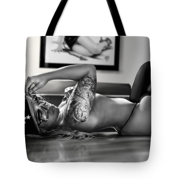 Tote Bag featuring the painting Timeless by Pete Tapang