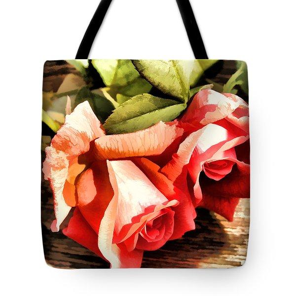 Timeless Tropicana Roses Tote Bag